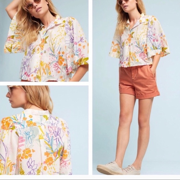 Anthropologie Tops - Maeve floral blouse